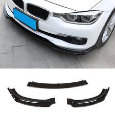 3PCS For BMW F30 F35 Base 13-18 Front Bumper Lip Spoiler Splitter Glossy Black