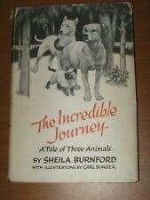 The Incredible Journey Dogs Bull Terrier Lab Siamese Cat Burnford Carl Burger