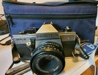 Praktica MTL5 + Carl Zeiss Tessar Lens + Case very nice working condition