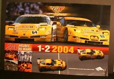 Corvette C-5 2004 LeMans 24 hour race poster #63 #64 1st second place class win