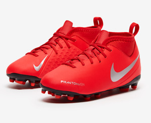 Nike Phantom Vsn Club Red/Grey Jr Soccer Cleats Boy (Size: 1.5y~5.5y) AO3288-600