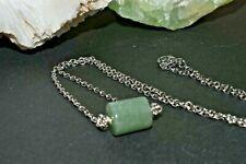 Green Aventurine Pendant Necklace Natural Stone Crystal Prosperity Career Succes