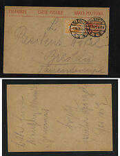 Upper  Silesia   #22  on  uprated postal  card    1921        MS0527