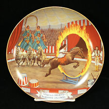EQUESTRIANS The Greatest Show On Earth Collector Plate #6 In The Series 1981
