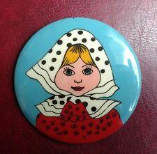 UdSSR USSR Pin Badge Abzeichen matrioshka girl Mädchen 1a Zustand