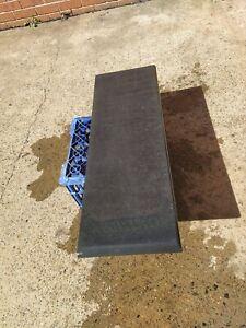 slate step threshold Kunda honed bull nosed smooth finish 860x300x30mm