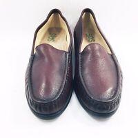 SAS Tripad Comfort Burgundy Leather Loafers Slip On Womens Shoes Size 11 N