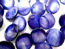NEW BOX 1440 BLUE WATER MOTHER OF PEARL SHANK BUTTONS 24MM NOS GENUINE ABC FRESH