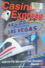 ABACUS  CASINO EXPRESS ADD-ON FOR MICROSOFT TRAIN SIMULATOR BRAND NEW OLD STOCK