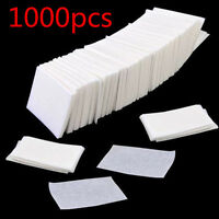 1000Pcs Lint Free Nail Wipes Cotton Pads Acrylic Nail Art Tips Polish Remover