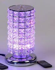 Tischlampe, Leuchte COLOURS H. 24cm D. 15cm Edelstahl + Kristallglas Formano