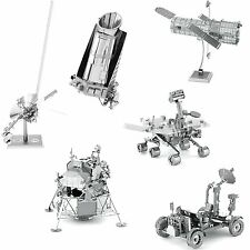 6 Metal Earth Kit Telescope Apollo Lunar Rover Module Mars Rover Kepler Voyager
