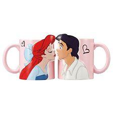 Genuine Disney Little Mermaid Ariel & Eric Pair Mug Cups Set pink Japan kiss