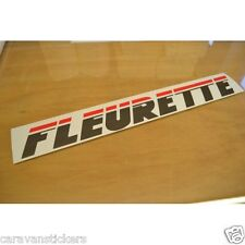 FLEURETTE Pop-Up Caravan Roof Name Sticker Decal Graphic - SINGLE