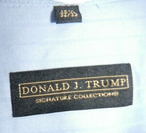 Donald J. Trump Signature Collection Blue Button Down Shirt 15 1/2 32/33