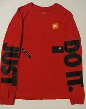 "New Nike Red ""Just Do It"" 2Xl / Xxl Long-Sleeve Men's T-Shirt Standard Fit Nwt"