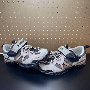 Shimano SH-WM40 SPD Cycling Shoes Womens 9.5 US 42 EU 2 Bolt Cleats Tan Suede