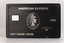 NEW 2020 Style American Black Card Express Centurion Card TITANIUM - Perfect
