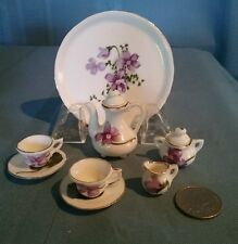 Miniature Fine Bone China Mini Tea Set