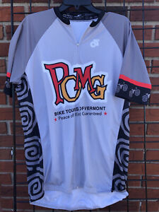 Mens Vermont Triathlon Cycling Jersey XXL Gray White Pomg