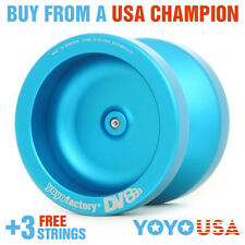 [WINTER SALE] YoYoFactory DV888 Metal Yo-Yo Aqua/Blue + STRINGS