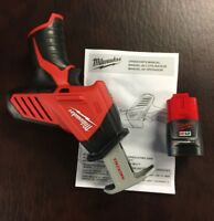 Milwaukee M12 12V 2420-20 Li-Ion Hackzall Reciprocating Saw &(1) Battery