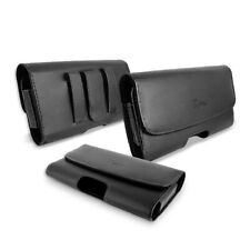 For Motorola T-Mobile REVVLRY PREMIUM BELT HOLSTER CLIP LEATHER POUCH CASE COVER