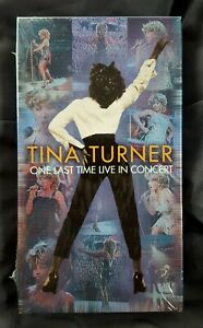 Tina Turner VHS One Last Time Live In Concert 2000 New Sealed In Plastic