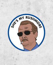 """Rushmore Sticker """"She's My Rushmore"""" Bill Murray jason schwartzman, quote laptop"""
