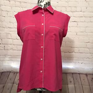 Tommy Hilfiger  Women's Shirt Button Down, Size XS, Collared , Hot Pink Color.