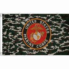 US MARINES CAMOUFLAGE CAMO 5X3 FLAG - US MILITARY BANNER CAMO ARMY NAVY FORCES