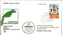 LUFTHANSA LH504 Erstflug MONTEVIDEO - SANTIAGO DE CHILE Briefmarke Stamp URUGUAY