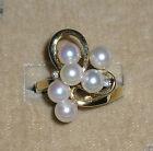 SOLID  1 4K Gold   AKOYA  Pearl   DIAMOND  Ring