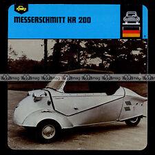#14.14 MESSERSCHMITT KR 200 - Fiche Auto Car Card