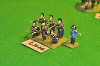 28mm napoleonic / french - dragoons (plastic) 7 figs - cav (47066)