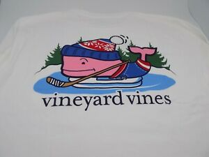 Vineyard Vines  white  Whale Print Long Sleeve Tee M / MEDIUM YV-16