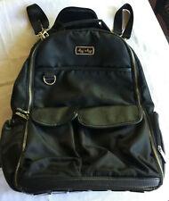 Itzy Ritzy Backpack Diaper Bag Totebag, Large Roomy Unisex Black Herringbone