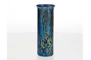 Isle Of Wight Iridescent Glass Vase Cylindrical