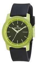 RIP CURL Mens Boys CAMBRIDGE SILICONE WATCH LIME Black Surf RRP$119.99 +FreeExp