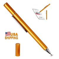 Fine Point Touch Drawing Stylus Pen Capacitive Touch Screen Round Thin Tip-Gold