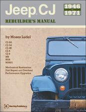 Jeep Cj 1946-1971  Rebuilders Manual Mechanical Restoration Repair Guide Book