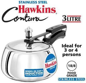 Hawkins Contura Stainless Steel 3 L Inner Lid Pressure Cooker --rXR