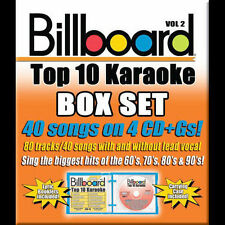 BILLBOARD TOP 10 KARAOKE - Vol. 2 (40 Songs on 4 CDs) [W38]