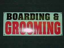 BOARDING & GROOMING Banner Sign NEW Larger Size DOGS CATS Large Animal 4 Shop
