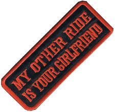 My Other Ride Is iron on/sew on cloth patch (os) REDUCED
