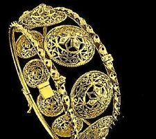 22 KT FINE SOLID GOLD HANDMADE DIAMOND BANGLE BRACELET 41 GRAMS $5400.00 RETAIL