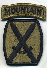 US Army 10th Mountain Division New MultiCam Patch W/Tab 2 Piece