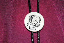 Big Horn Sheep Etched Cultured Marble Bolo Bola Tie