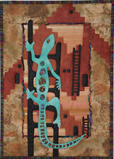 New Applique Wallhanging Pattern 15x21 LIZZARD ON A LADDER Quilt