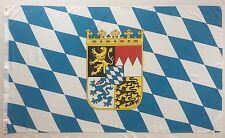 Fahne Flagge Bayern mit kleinem Wappen 90x150 cm mit Ösen